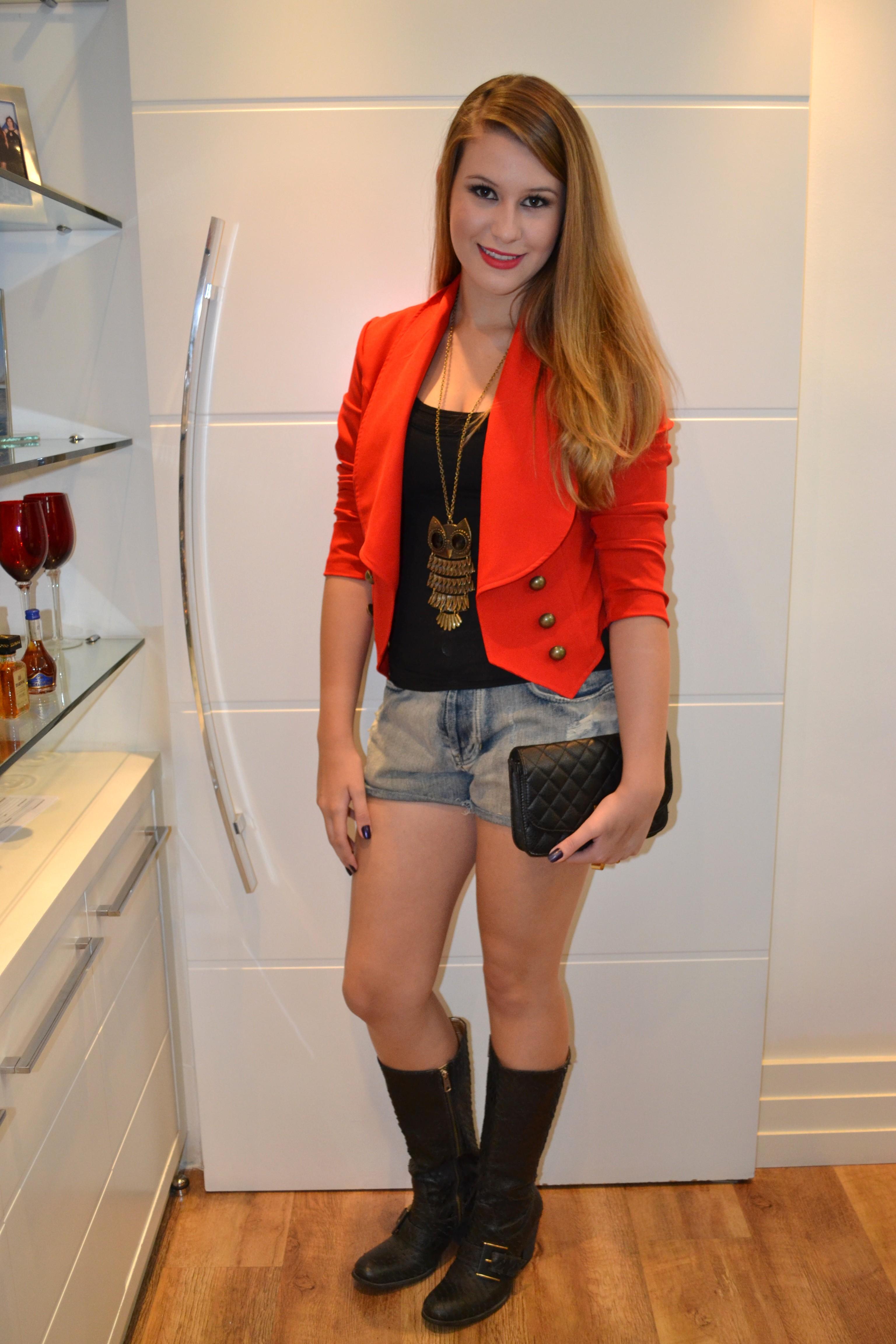 Look do dia: Blazer vermelho - Niina Secrets