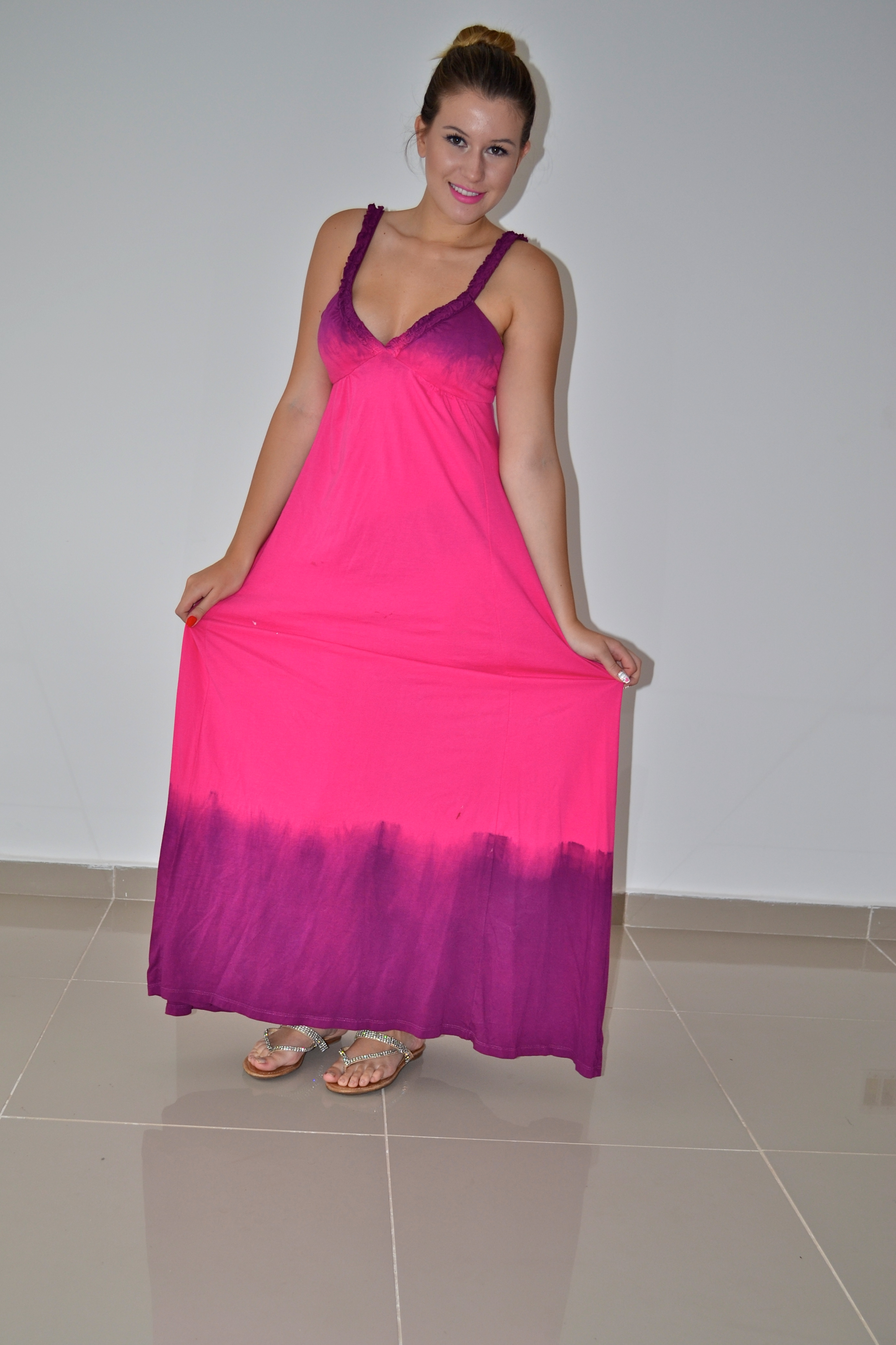 ec36860a5 Look do dia: Vestido longo degradê - Niina Secrets